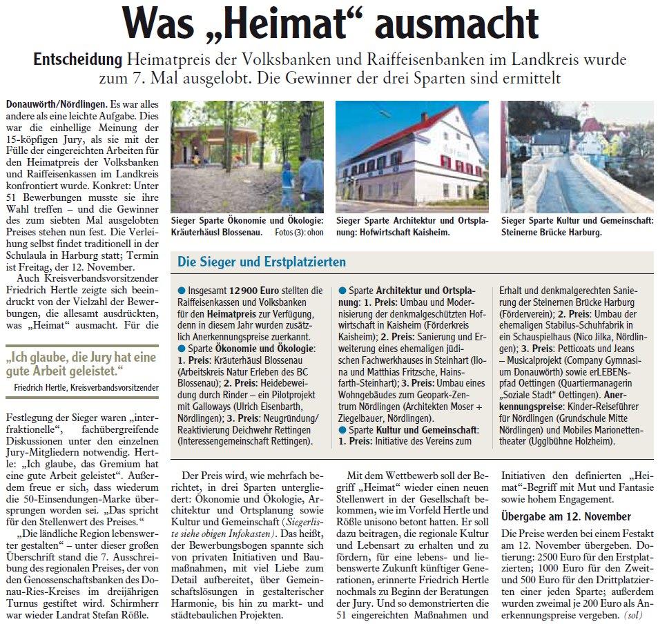 """Zeitungsartikel: Was """"Heimat"""" ausmacht"""